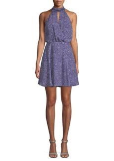 Parker Floral Halter Flare Dress