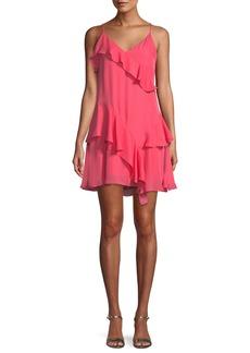 Parker Holly Ruffle Flounce Mini Dress
