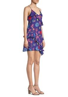 Parker Holly Silk-Blend Floral Dress
