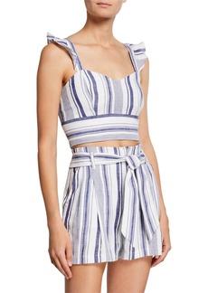 Parker Ibiza Sleeveless Striped Crop Top