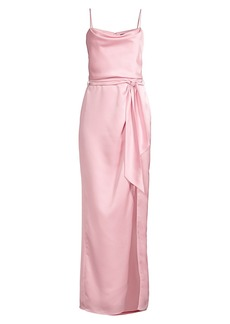 Parker Ingrid Slit Satin Gown