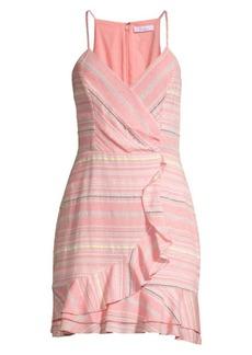 Parker Jay Striped Ruffled Mini Dress