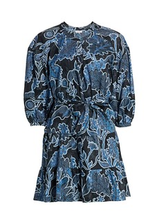 Parker Jenna Puff-Sleeve Dress