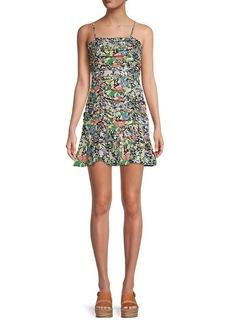 Parker Julie Floral Silk-Blend Dress