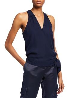 Parker Kenna Sleeveless Side-Tie Surplice Top