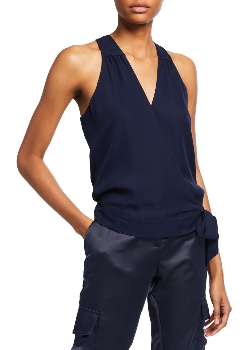 Parker Kenna Sleeveless Side-Tie Surplice Top