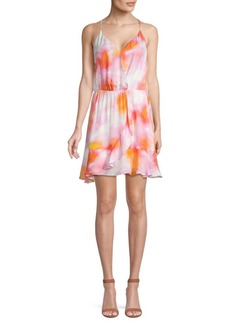 Parker Kesha Tie-Dye Silk-Blend Mini Dress