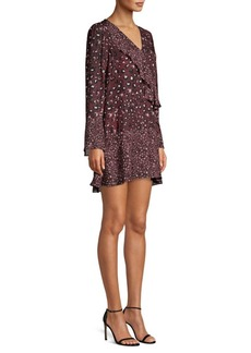 Parker Kimberly Ruffled Print Shift Dress