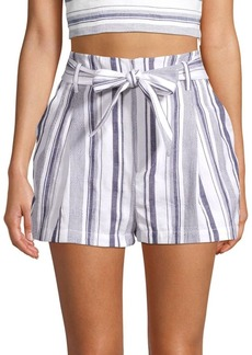 Parker Kirby Striped Tie-Waist Shorts