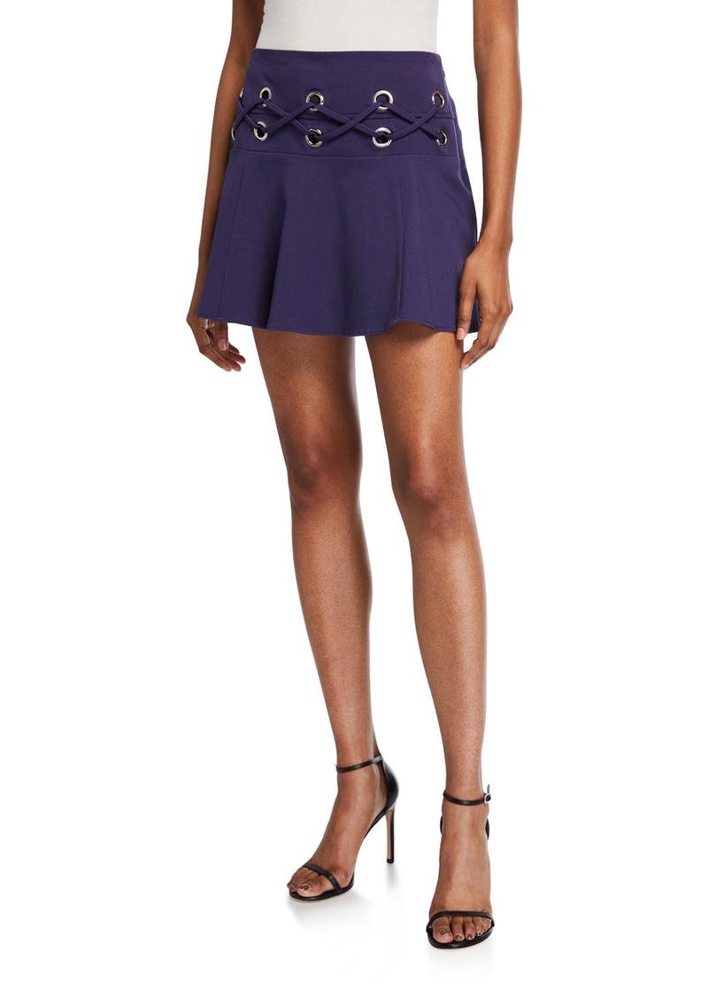 Parker Lace-Up Mini Skirt