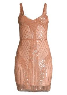 Parker Lauren Sequin Sheath Dress