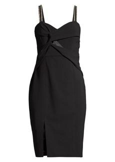 Parker Lazaro Embellished Twist-Front Dress