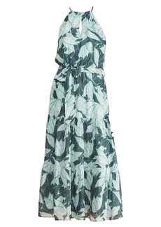 Parker Leonora Palm Tree Breeze Silk Dress