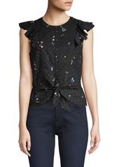 Parker Lindy Floral Tie Front Top