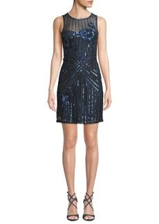 Parker Lorenza Beaded Mini Dress