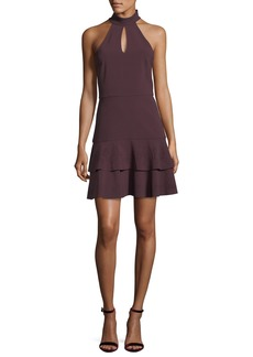 Parker Luana Halter-Neck Sleeveless Mini Dress