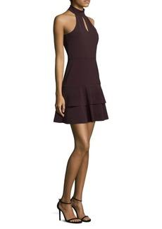 Luana Keyhole Fit-&-Flare Dress