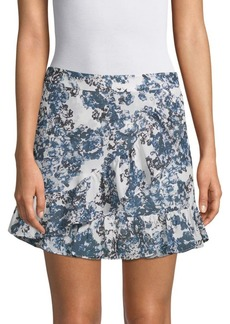 Parker Lyla Mock-Wrap Mini Skirt