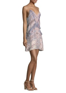 Magda Combo Silk Mini Dress