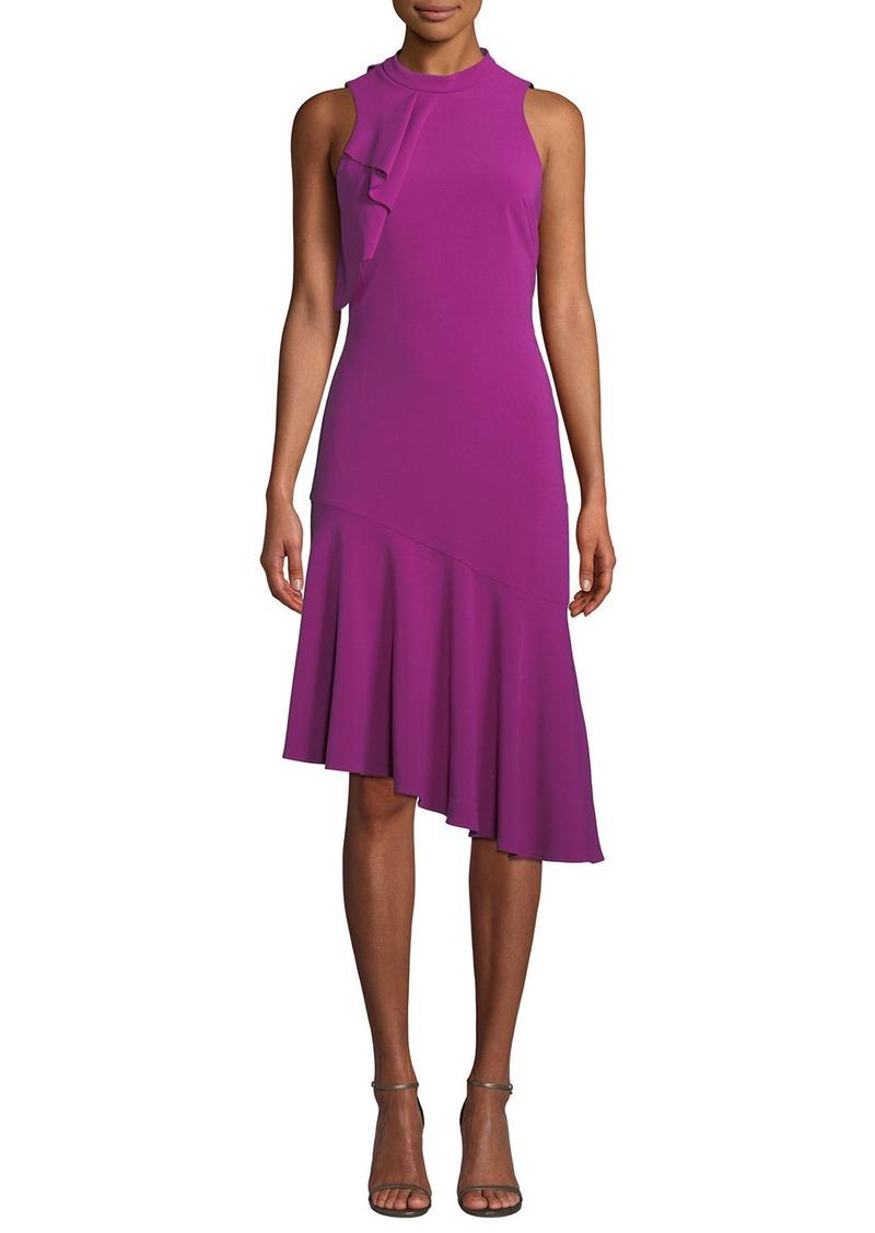 Parker Maggie Sleeveless Asymmetric Crepe Dress
