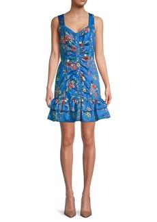 Parker Mahari Floral Cotton Flounce Dress