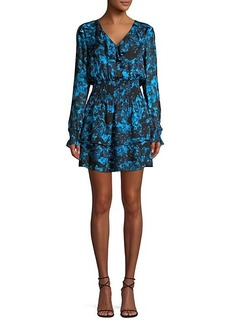 Parker Maisy Silk-Blend Floral Blouson Dress