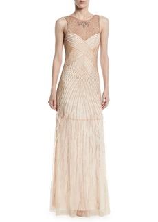 Parker Manuela Beaded Gown w/ Open Back
