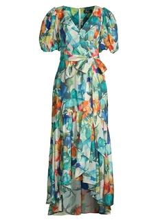 Parker Marcel Printed High-Low Dress