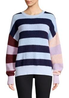 Parker Mila Stripe Merino Wool & Mohair-Blend Sweater