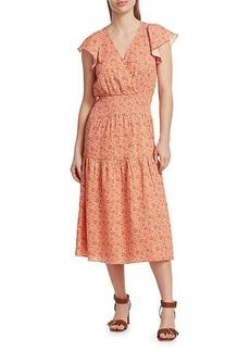 Parker Miley Printed Smocked Dress
