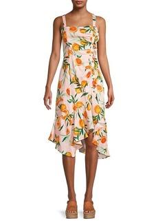 Parker Millie Citrus-Print Linen Dress