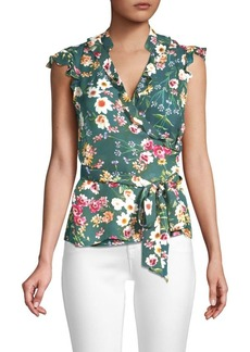 Parker Miranda Floral Wrap Top