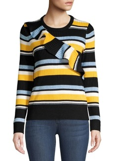 Parker Montego Striped Ruffle Sweater