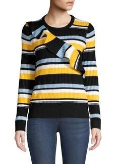 Parker Montego Striped Ruffle Sweater