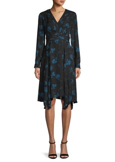 Parker Moody Floral-Print Silk-Blend A-Line Dress