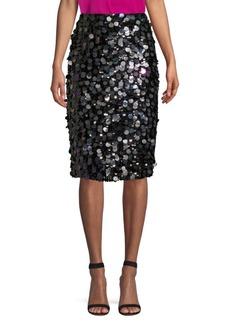 Parker Multi-Sequin Pencil Skirt