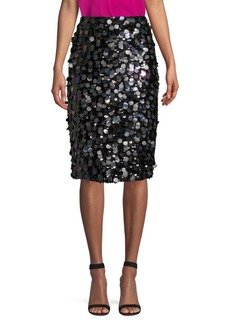 Parker Multi-Sequin Pencil Skirt