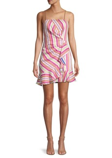 Parker Multistripe Ruffle Dress