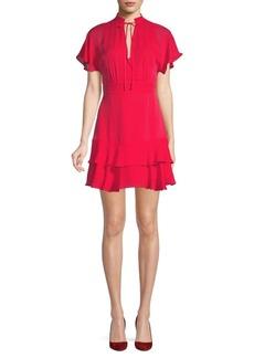 Parker Natalie Tiered Silk Dress