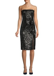 Parker Noelle Sequin Strapless Dress
