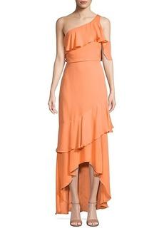 Parker One-Shoulder Silk Maxi Dress