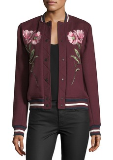 Parker Pacifico Embroidered Wool Varsity Jacket