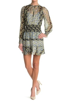 Parker Paisley Long Sleeve Smocked Dress