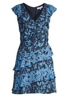 Parker Paola Ruffled Silk Flare Dress