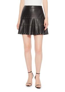 Parker Alex Studded Leather Skirt