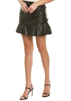 Parker Alexandra Leather Mini Skirt