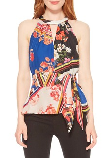 Parker Alice Mixed Floral Tie Front Top