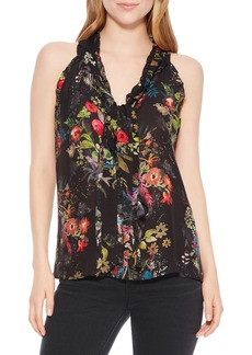 Parker Allie Floral Silk Blend Top