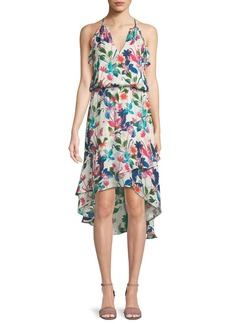 e1338660d1 Parker Allister Floral-Print Silk Dress