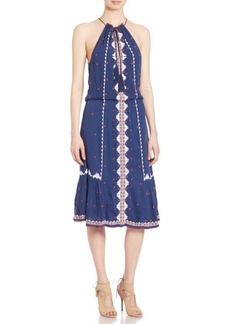 Parker Atlas Embroidered Midi Dress